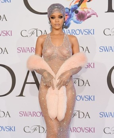 Rihanna see through dress