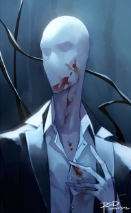 Slender man illustration