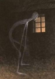 Slenderman in the window