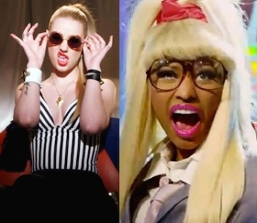 Iggy Azalea Nicki Minaj crazy faces