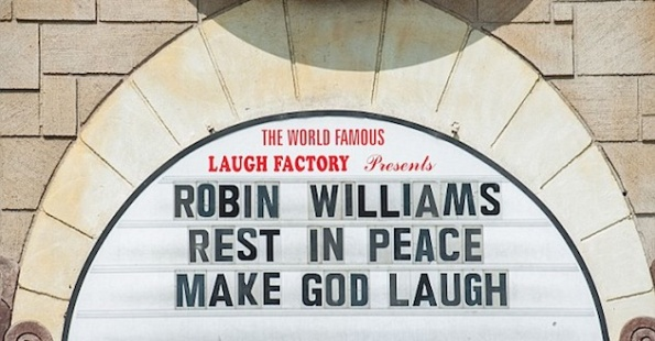 Robin williams laugh factory sign