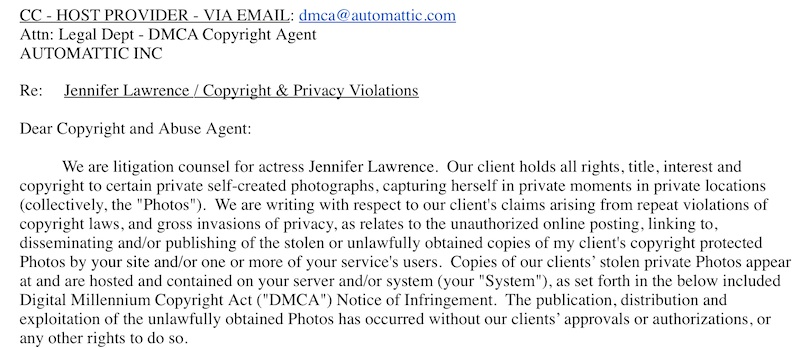 Jennifer lawrence lawyer email