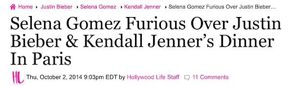 Selena gomez kendall jenner feud