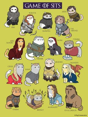 game of thrones as cats