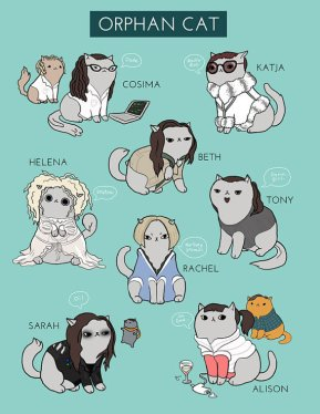 orphan black as cats