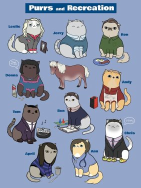 parks and recreation as cats