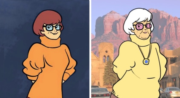 velma as an old woman