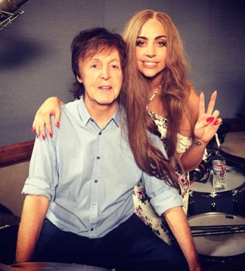 Gaga Sir Paul instagram