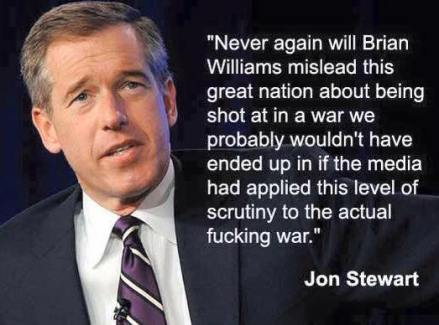 Jon Stewart Brian Williams quote