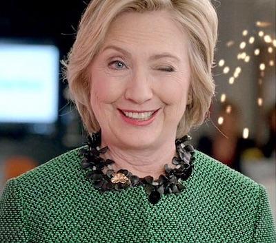 Hillary clinton winking
